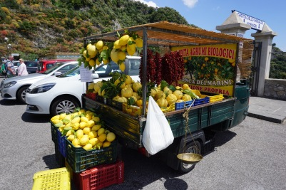 Fresh produce in Amalfi, Italy.