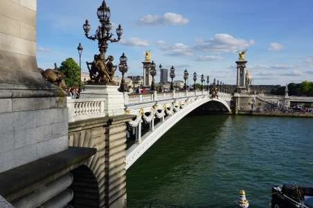 Bridge in Paris, France.